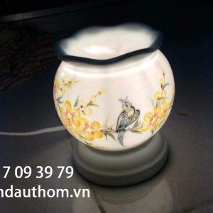 Đèn xông tinh dầu họa tiết hoa mai