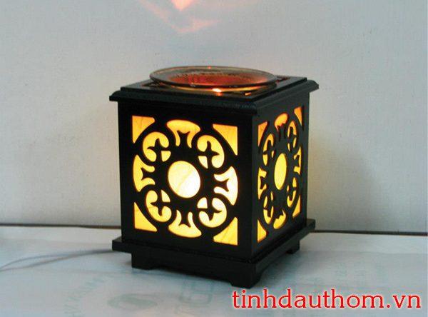đèn xông tinh dầu gỗ hoa hướng dương