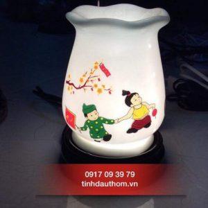 đèn xông tinh dầu gốm họa tiết tết việt nam