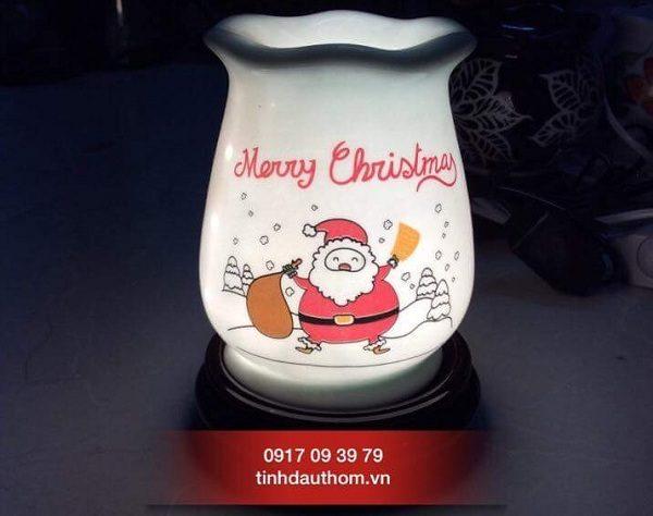đèn gốm bát tràng họa tiết Noel