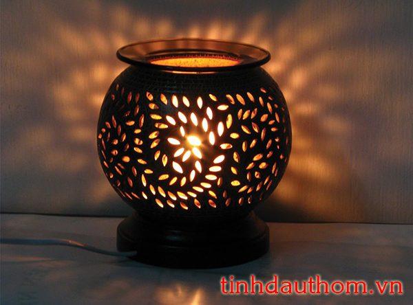 đèn xông tinh dầu gốm họa tiết hình lá