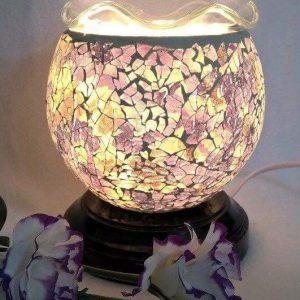 Đèn xông tinh dầu pha lê tím