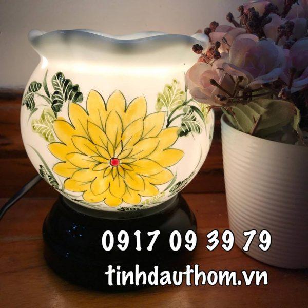 Đèn xông tinh dầu gốm hoa cúc