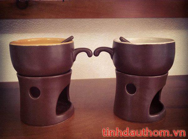 đèn xông tinh dầu nến tách cafe