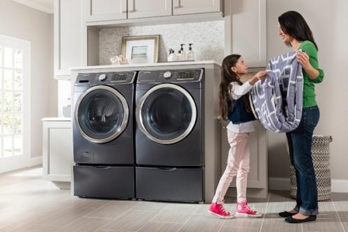 khử mùi máy giặt