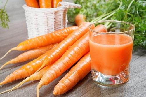 Trị nám da bằng cà rốt