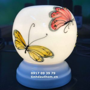 Đèn gốm size mini họa tiết hình bướm