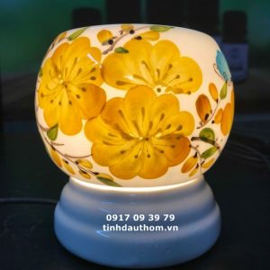 Đèn size trung vẽ hoa mai